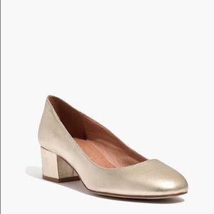 Madewell Ella Pump - Gold - Size 8
